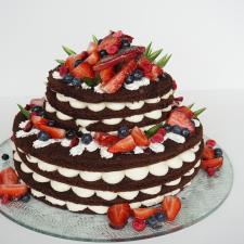 Nude cake plikas tortas