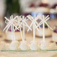 Vestuvinis desertas. Pop cake