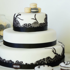 Vestuvinis tortas su ažūru